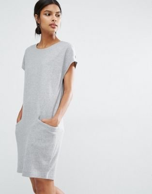 Y.A.S Evita Wool Dress With Oversized Pockets at asos.com