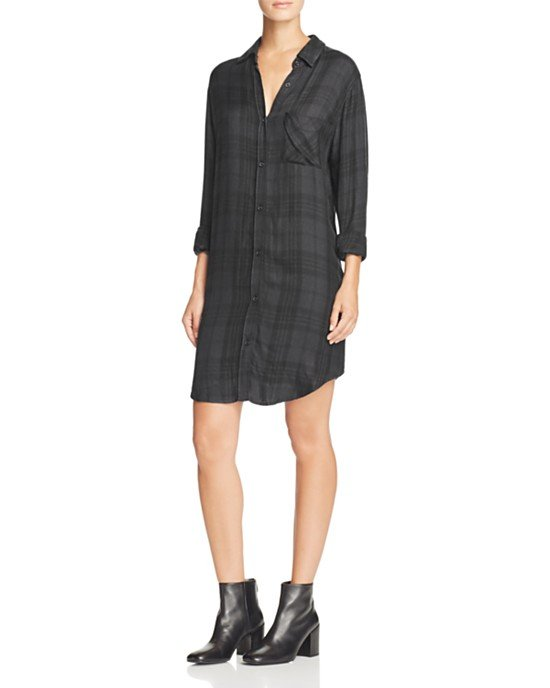 Bianca Plaid Shirt Dress