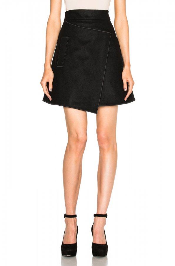 Pocket Mini Skirt in Noir