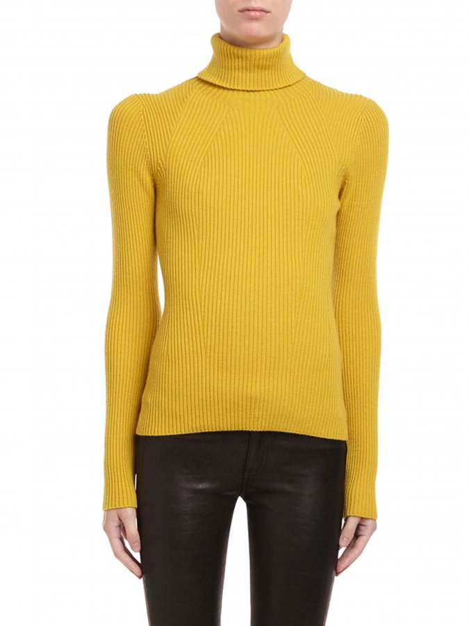 Long Sleeve Ribbed Turtleneck Pullover