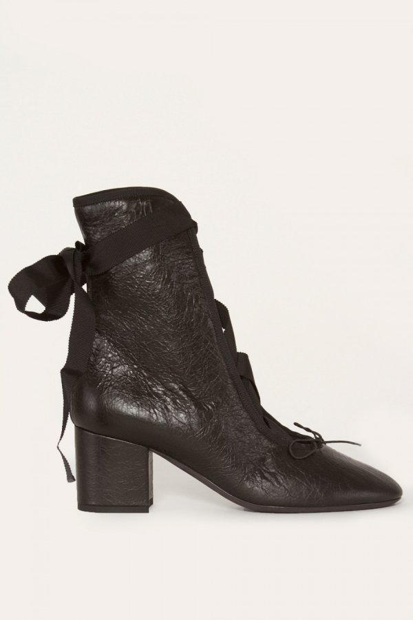 Ballet Ribbon Lace Up Bootie