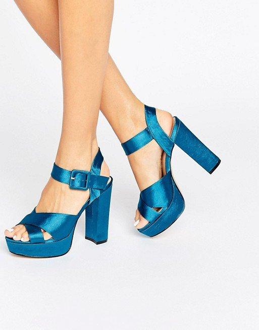 Satin Platform Heel