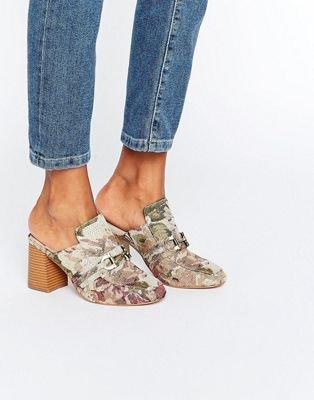 ASOS OMA Loafer Heeled Mules at asos.com