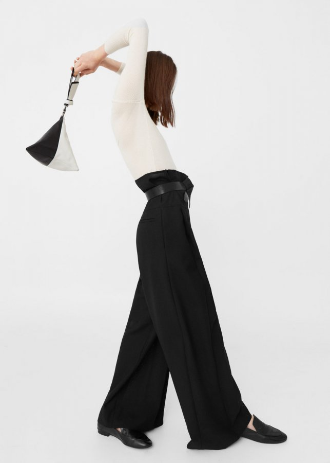 Palazzo virgin wool trousers