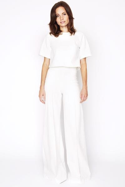 Off White Wide Leg Pants