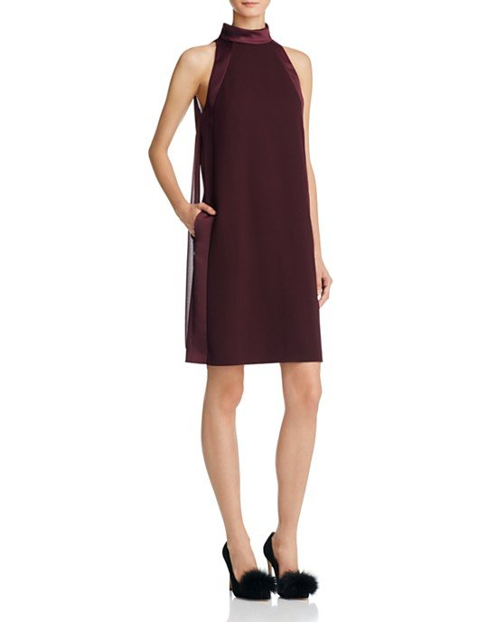 Kaelin High-Neck Dress