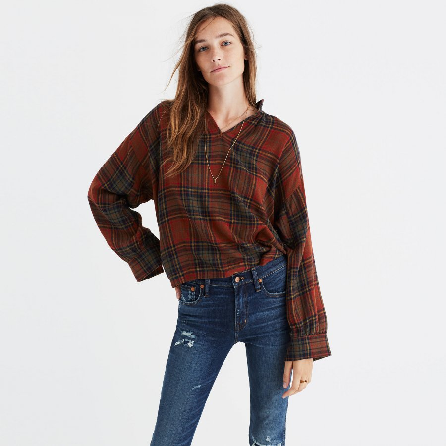 Highroad Popover Shirt in Brentford Plaid