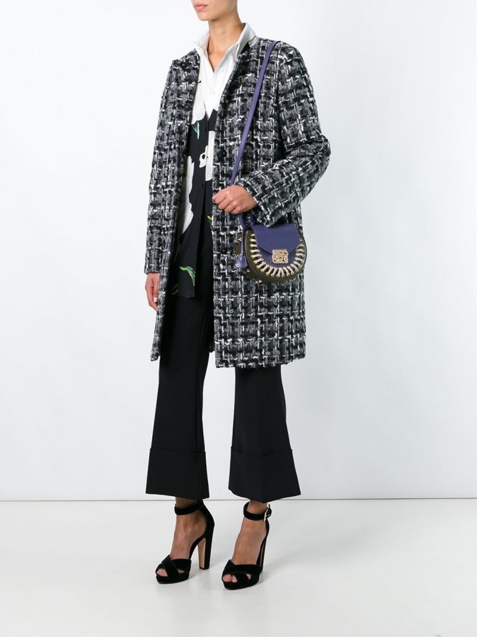 Slim Fit Boucle Coat