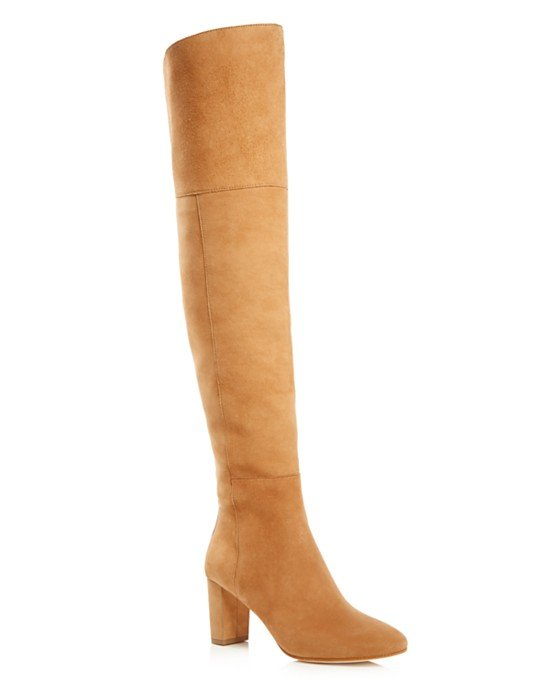 Brett Stretch Suede Over The Knee High Heel Boots