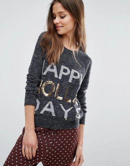 Noisy May Kick Backs Holidays Knitted Sweater