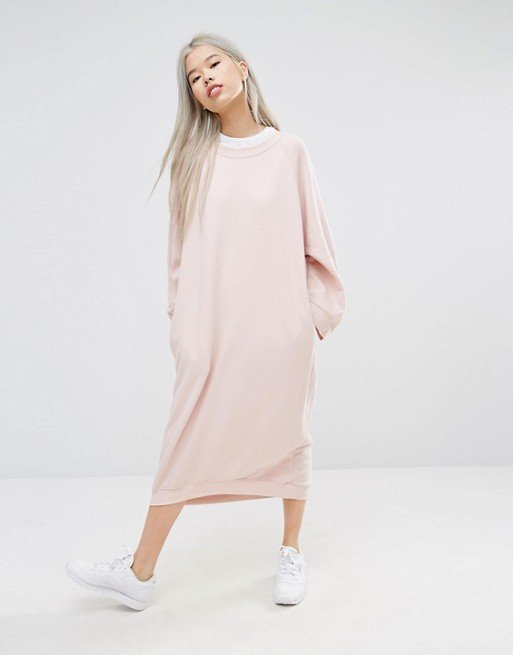 Midi Oversized Sweat Dress