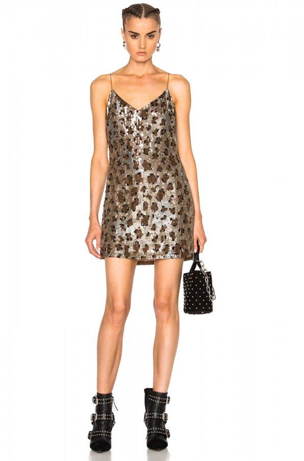 63 Dress in Leopard Sequin
