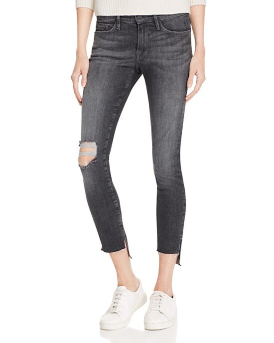 Skinny Raw Stagger Jeans