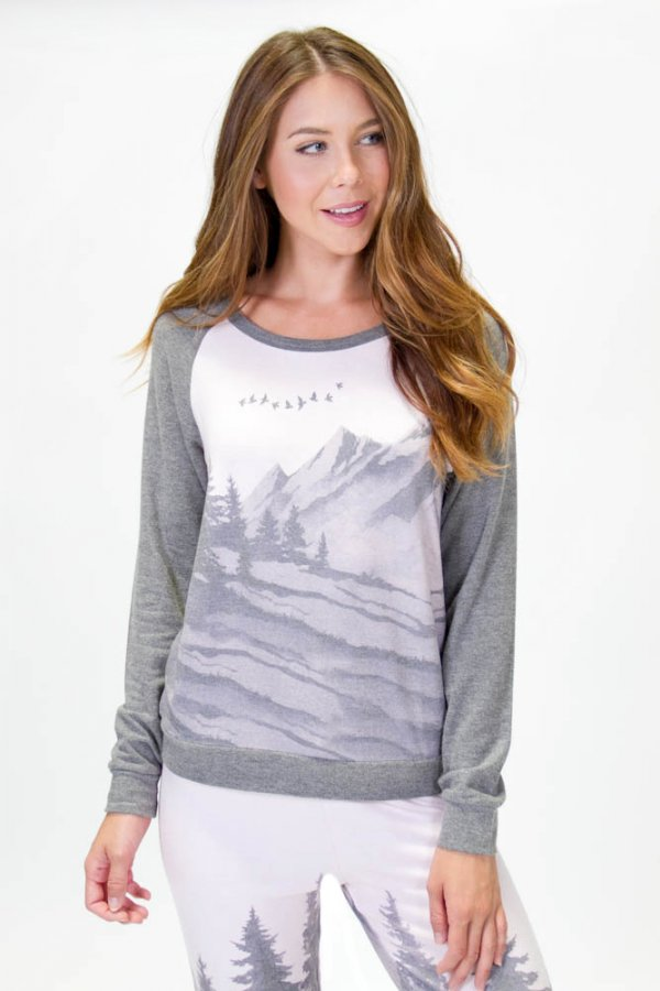 OWL ABOUT NATURE LONG SLEEVE TOP