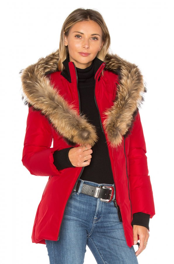 Adali Coat with Asiatic Raccoon Fur Trim
