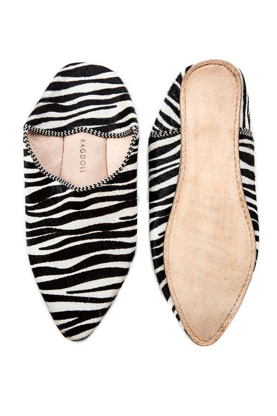 BABOUCHE SLIPPERS Zebra