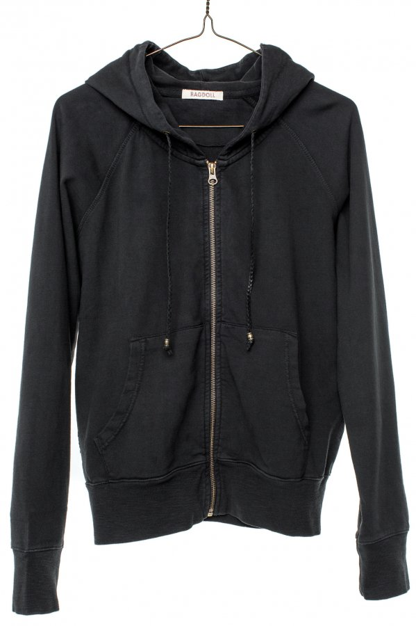 Hoodie in Faded Black