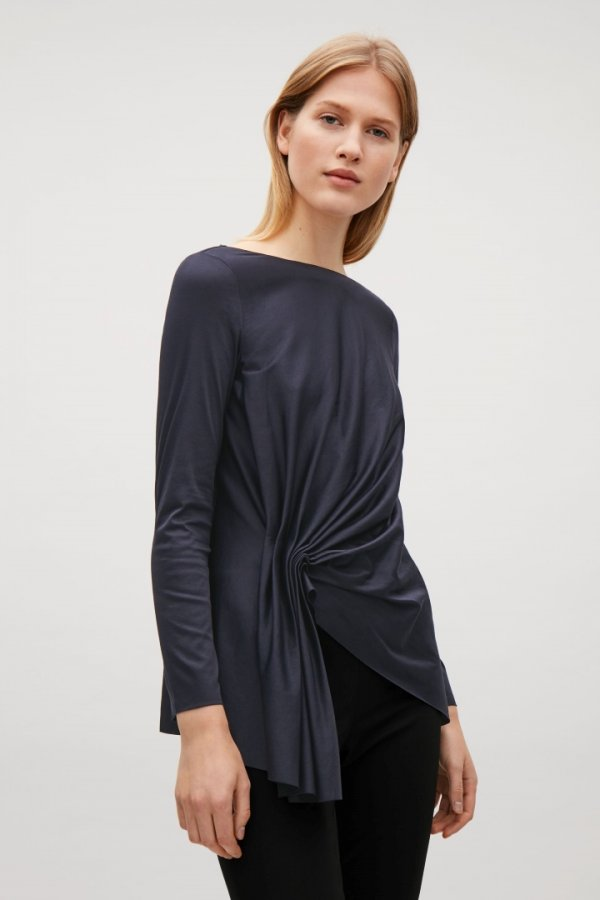 Top with front drape detail