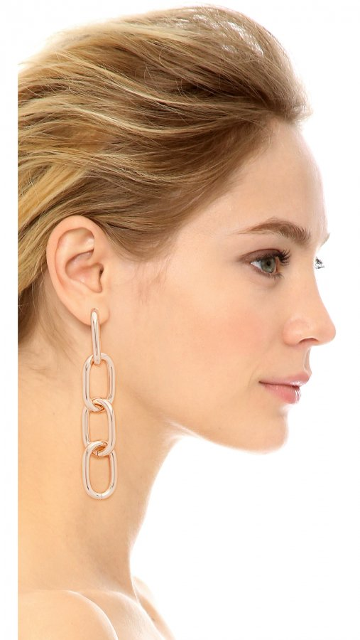 Four Link Earrings