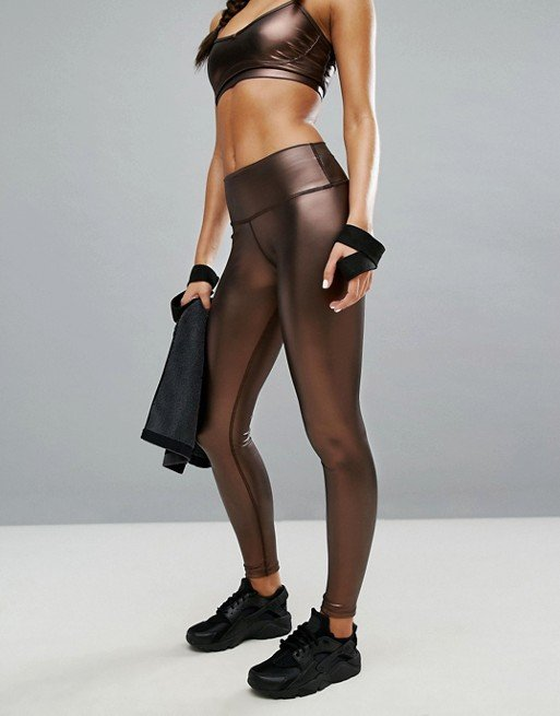 Copper Vegan Leather Yoga Legging