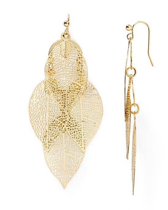 Calliope Leaf Drop Earrings