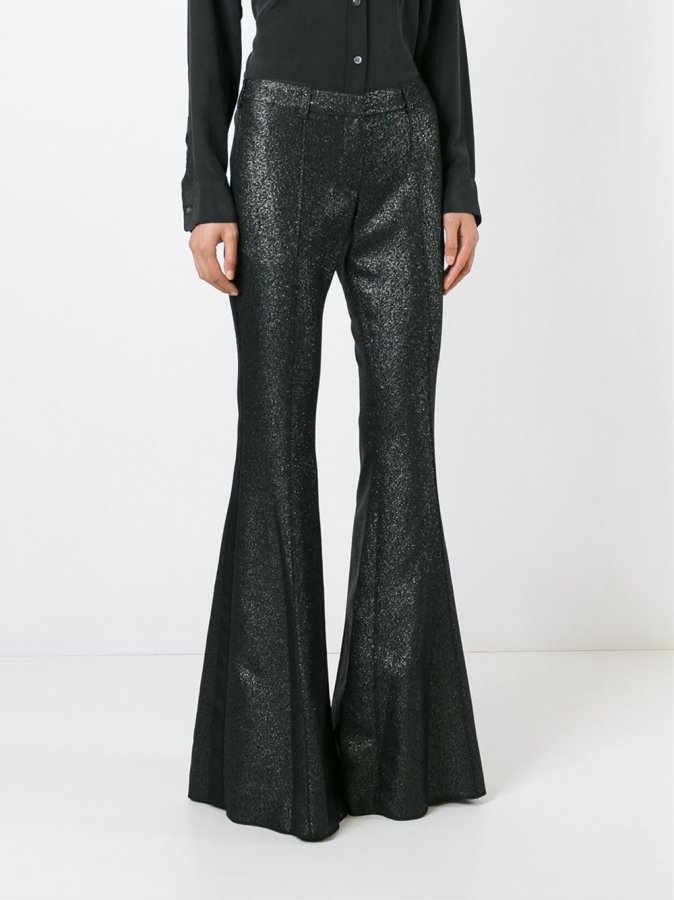 Metallic Flared Trousers