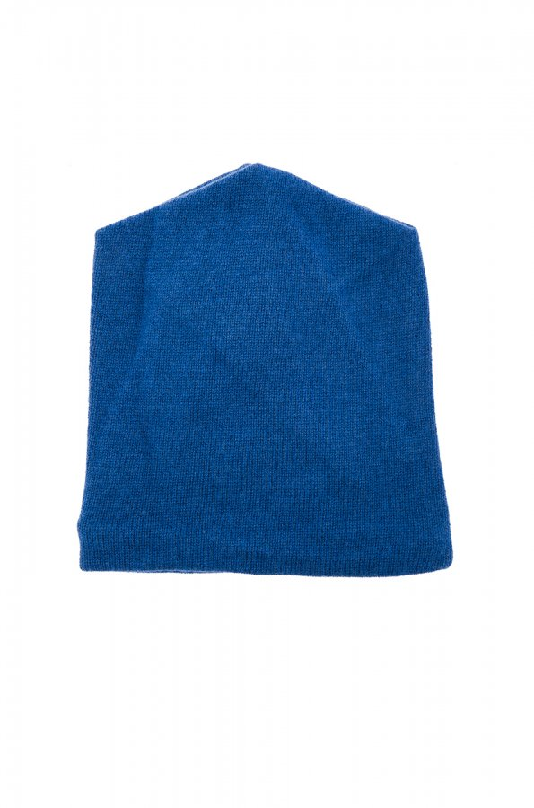 Wool Cashmere Beanie in Peacock