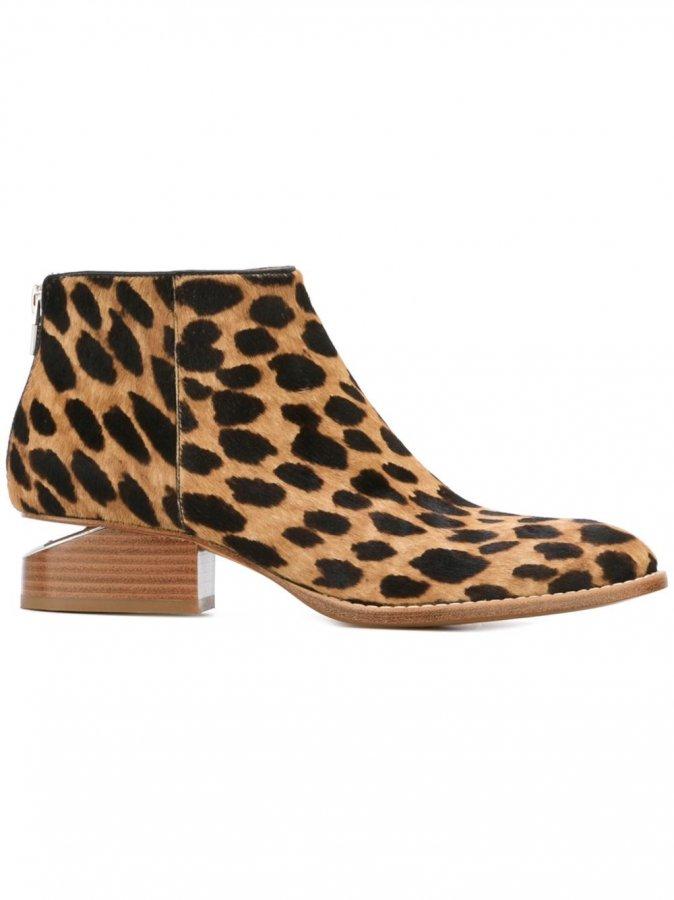 \'Kori\' Leopard Print Ankle Boots