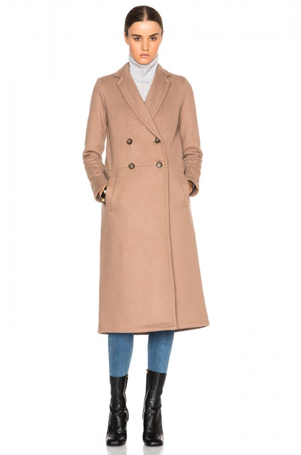 Fleece Overcoat in Camel