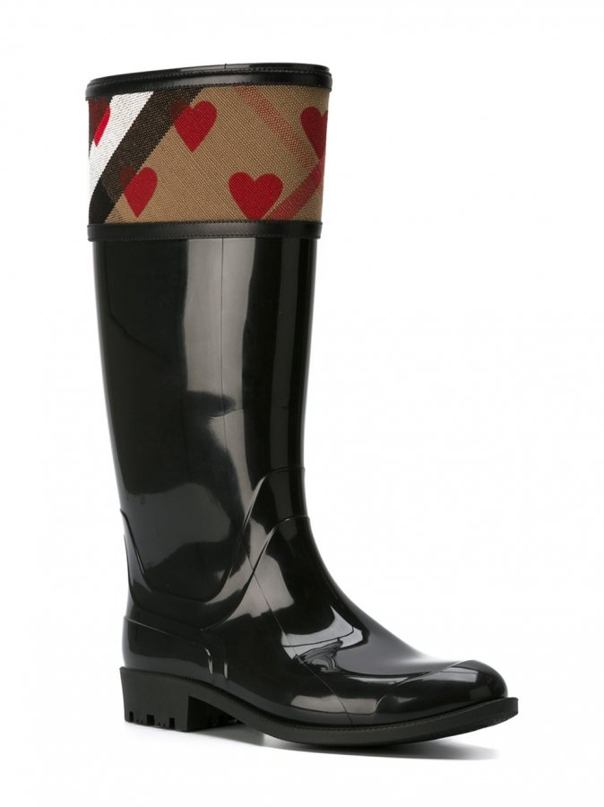 Heart Motif Rainboots