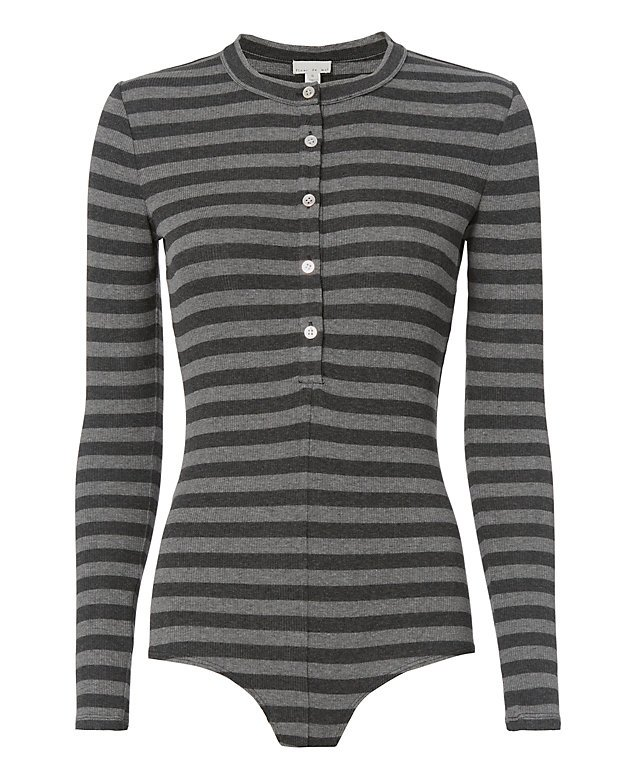 Henley Stripe Bodysuit