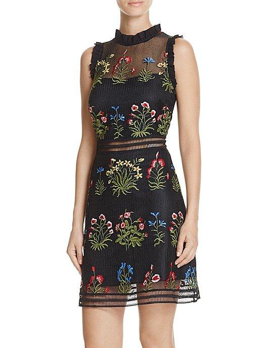 Gabby Embellished Mesh Dress