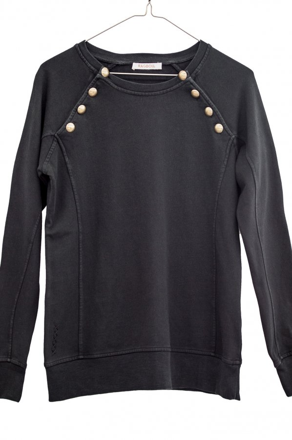 Sweatshirt w/ Brass Buttons
