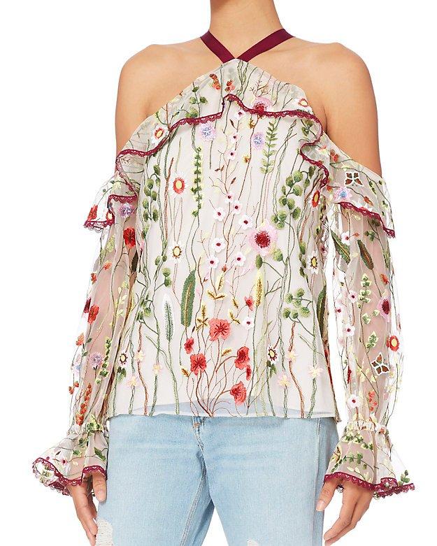 Alexis Kylie Floral Cold Shoulder Top - INTERMIX®