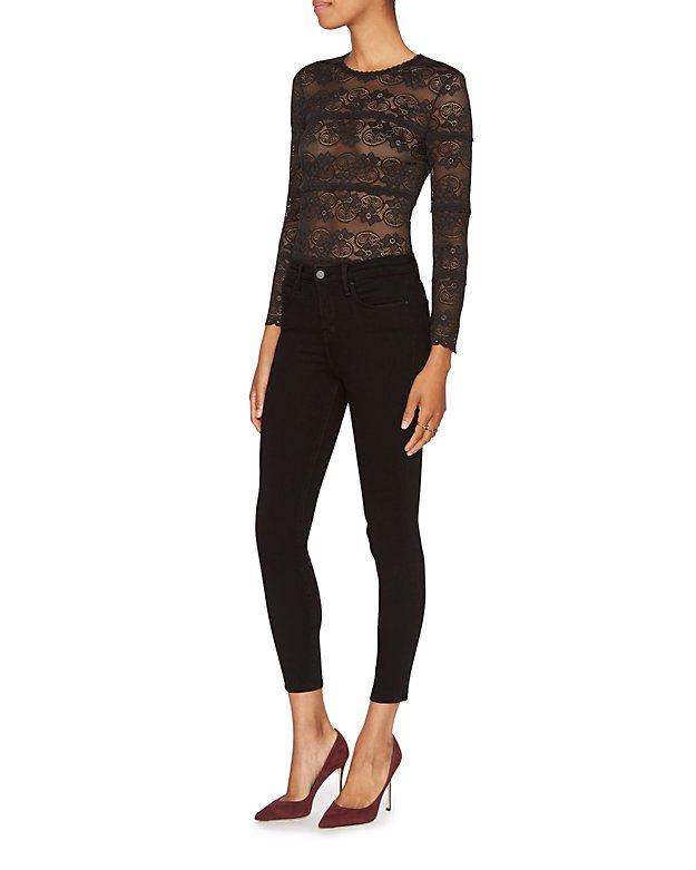 Margot Noir High-Rise Ankle Skinny Jeans