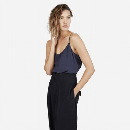 The Silk Camisole - Navy