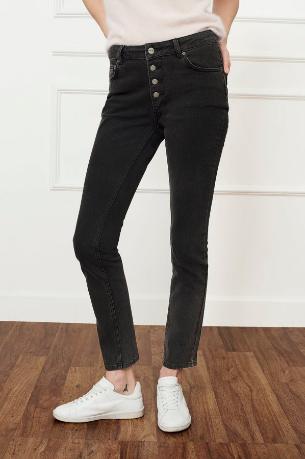 High Waisted Button Up Jeans