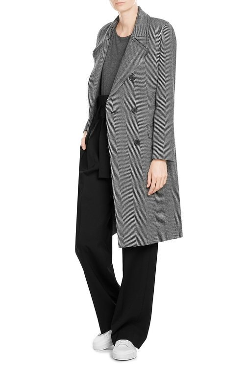 Herringbone Coat with Wool