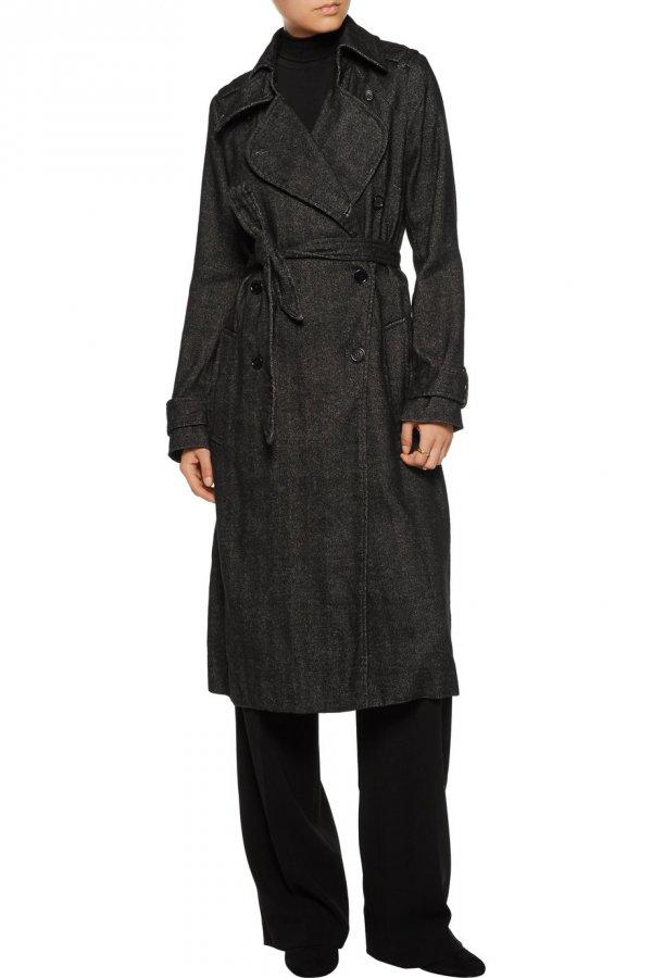 Habor herringbone linen-blend coat