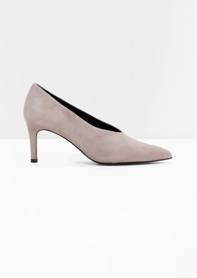 Suede Stiletto Heel