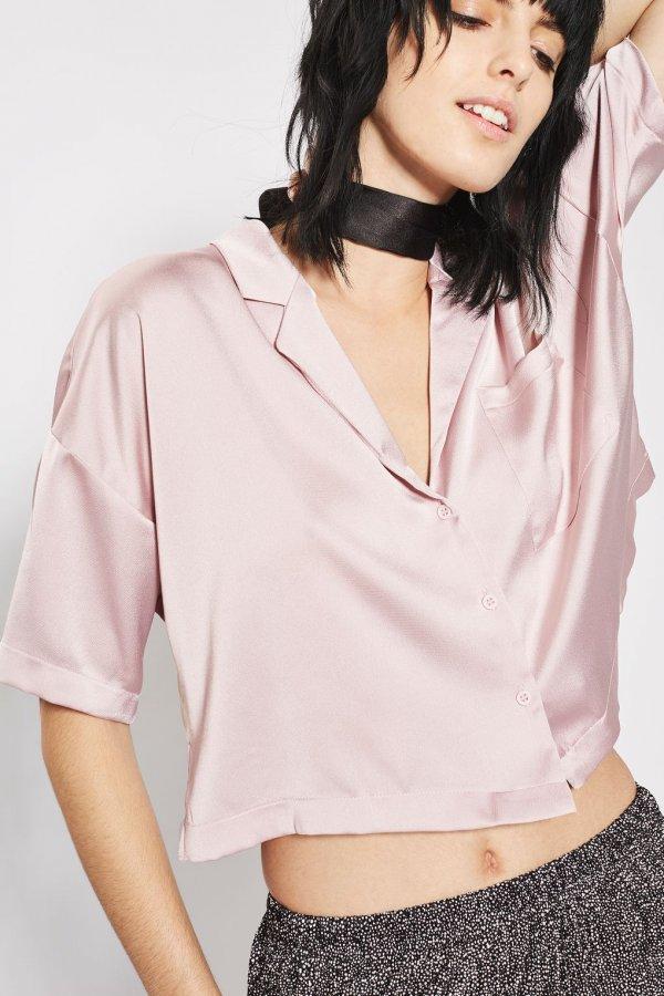 PETITE Crop Pyjama Shirt