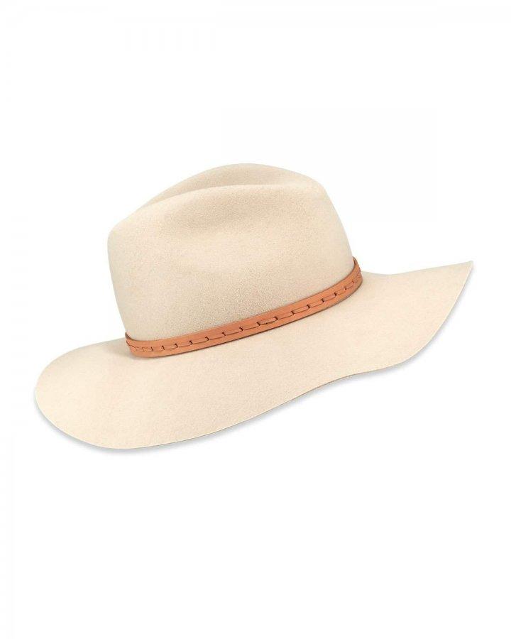 Wool Felt Wide-Brim Fedora Hat