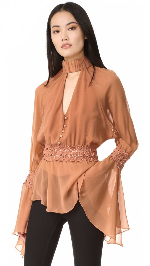 Georgette Batwing Top