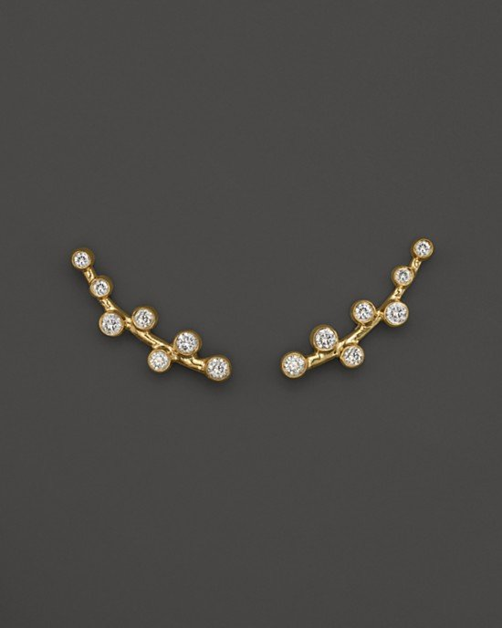 Diamond Ear Climbers in 14K Yellow Gold, .20 ct. t.w.