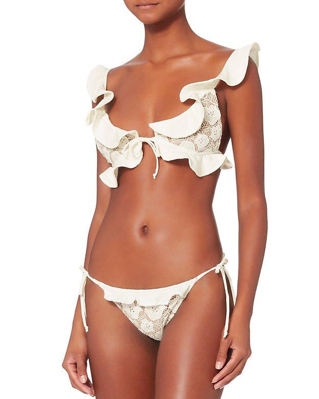 Corsica Lacey Ruffle Bikini Top