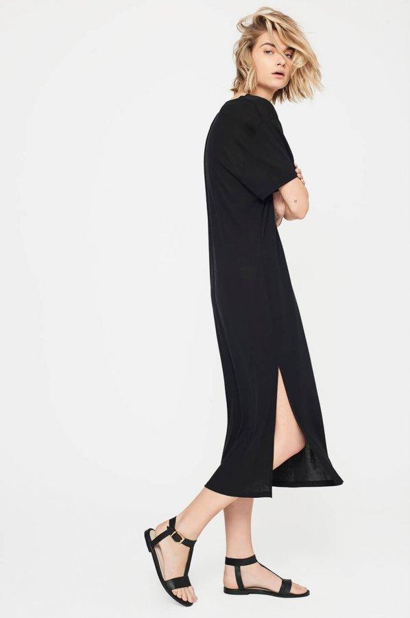 Deep V T-Shirt Dress