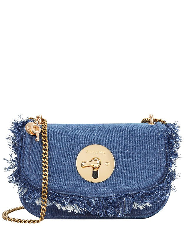 See By Chloé Circle Hardware Flap Denim Bag - INTERMIX®