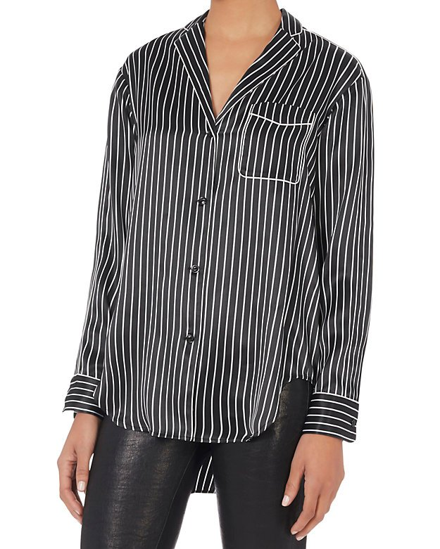 Striped PJ Blouse