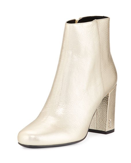 Babies Metallic 90mm Ankle Boot