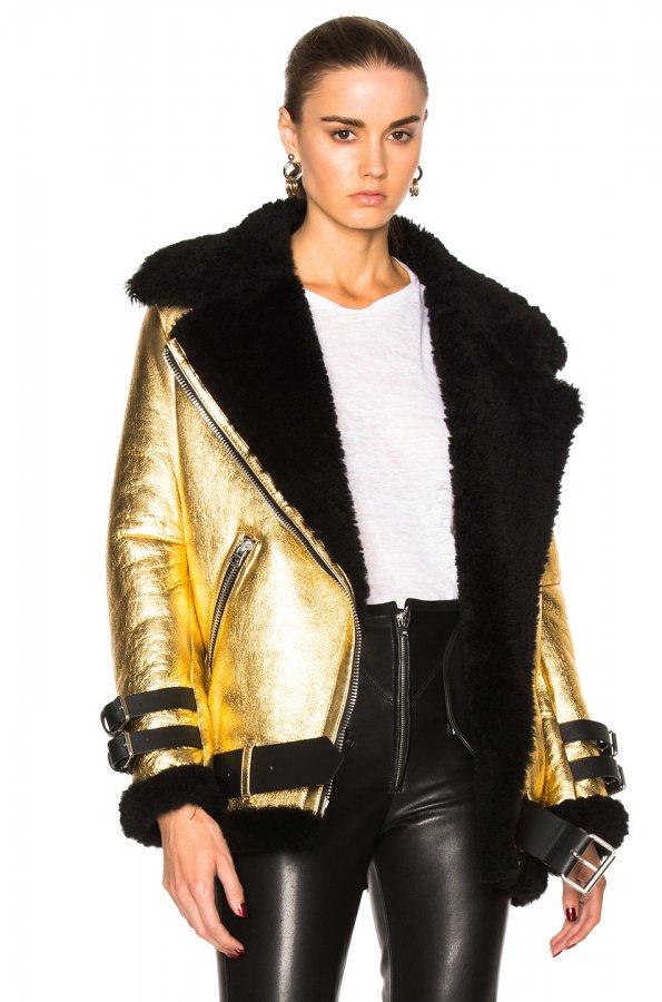 Shearling Velocite Metallic Jacket